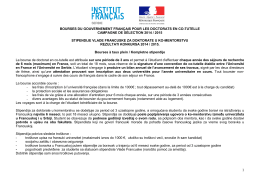 Bourses Doctorats en co-tutelle