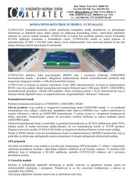 1. Komandno-kontrolni modul CCM 16/6-GG