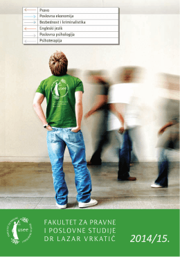 Upis 2014. - Fakultet za pravne i poslovne studije