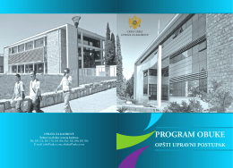 program obukeOUP.pdf - Uprava za Kadrove Crne Gore