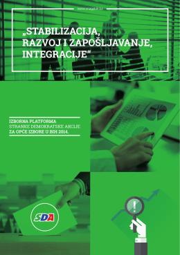 Izborna platforma SDA za Opće izbore u BiH 2014.