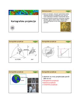 Kartografske projekcije