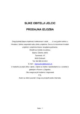 Slike obitelji Jelčić Prodajna izložba