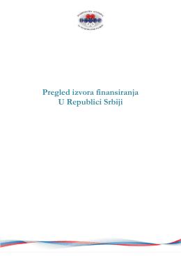 Преглед извора финансирања у Републици Србији
