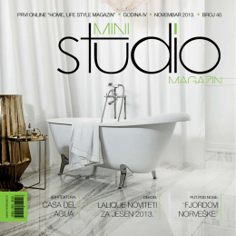 casa del agua - mini STUDIO magazin