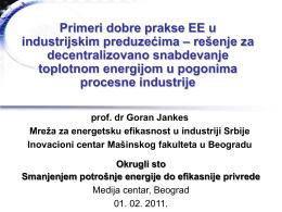 prezentacija - prof.dr Goran Jankes