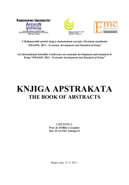 knjiga apstrakata the book of abstracts