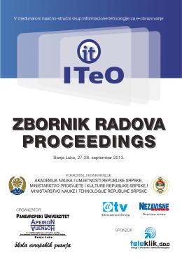 ITeO ZBORNIK RADOVA PROCEEDINGS