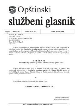 Opštinski službeni glasnik 9/2012 ispravka