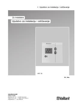Uputstvo za instalaciju i održavanje