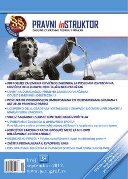 Paragraf Pravni instruktor • br. 28 • septembar 2012.