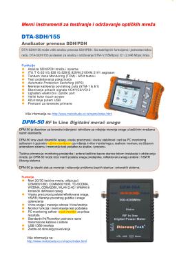 Katalog Merni instrumenti za testiranje i