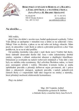 leden - Základní škola a mateřská škola Jana Pavla II, Hradec Králové
