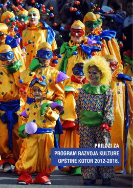 Program razvoja kulture - Kotor 2012-2016.
