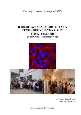 Izveštaj o radu Instituta tehničkih nauka SANU u 2012. godini