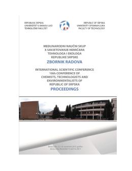 Zbornik radova - Tehnoloski fakultet Banja Luka