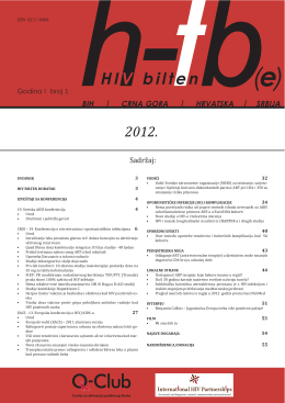HIV bilten HTB - HIV i-Base