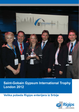 Saint-Gobain Gypsum International Trophy 2012