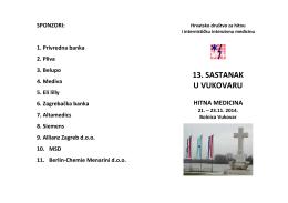13. sastanak u vukovaru - Hrvatsko društvo za hitnu i internističku