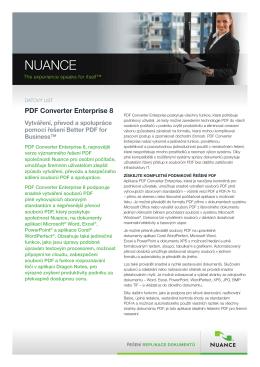 PDF Converter Enterprise 8 Datasheet