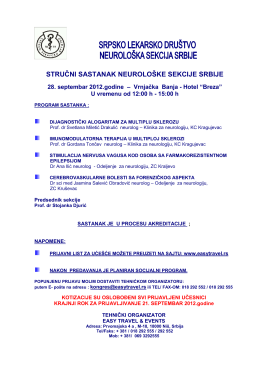 Obavestenje-Program rada 3. strucni sastanak SLD