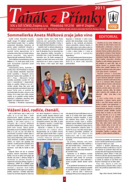 2011 - Pro studenty - SOU a SOŠ SČMSD, Znojmo, sro