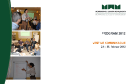 Veštine komunikacije PROGRAM 2012
