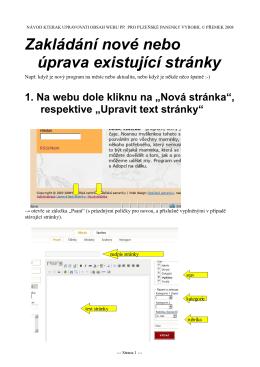 Návody - Plzeňské panenky