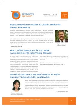 Newsletter č.5, ze dne 2.4.2014