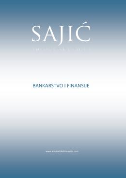 BANKARSTVO I FINANSIJE - Advokatska firma SAJIĆ | Banja Luka