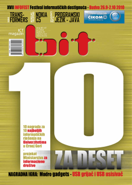 Broj: 46-47 jul/avgust 2010