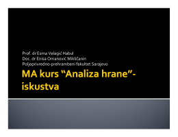 Prof. dr Esma Velagić Habul Doc. dr Enisa Omanović