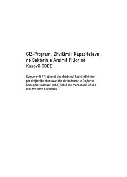 GIZ-Programi: Zhvillimi i Kapaciteteve në Sektorin e Arsimit