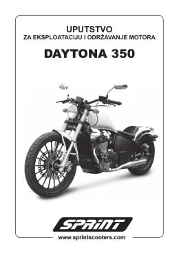 Daytona uputstvo.indd - SPRINT Skuteri
