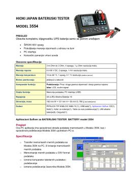 """""""Hioki Japan baterijski tester model 3554"""" Fajl je"""