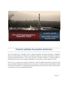 Prva CFO konferencija u Republici Srbiji a CFO