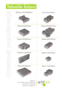 Tehnički listovi proizvoda