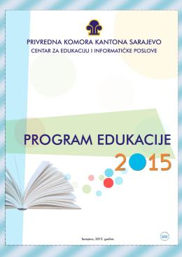 Program edukacije 2015. - Privredna komora Kantona Sarajevo