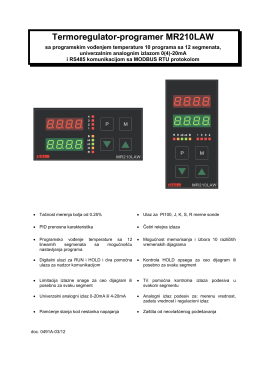 Termoregulator-programer MR210LAW