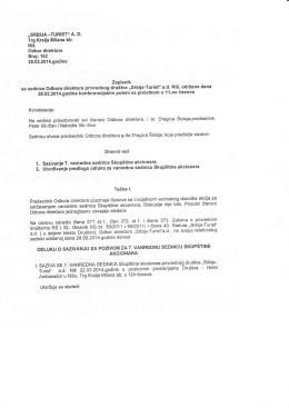 Zapisnik Odbora direktora