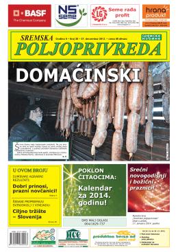 Sremska poljoprivreda broj 30 27. decembar 2013.