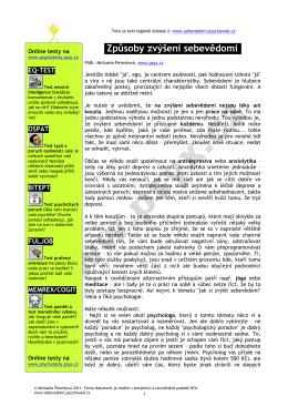 stáhnout v pdf - Sebevědomí