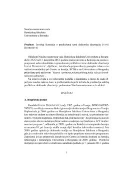 naučna zasnovanost teme za doktorsku disertaciju
