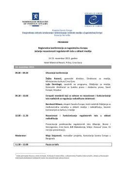 Regionalna konferencija za Jugoistočnu Evropu Jačanje