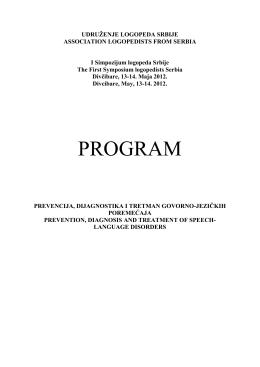 program I Simpozijuma logopeda Srbije