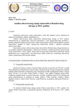 Braničevski okrug - Zavod za javno zdravlje Požarevac