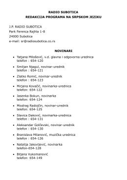 Kontakti [pdf] - Radio Subotica