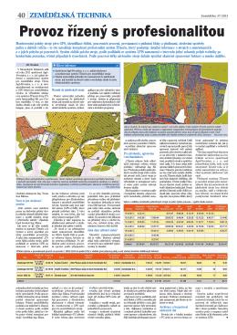 Popis systému Itineris, časopis Zemědělec č. 37/2013