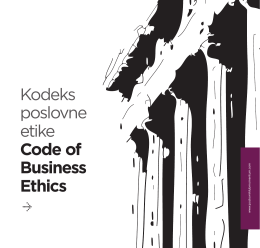 Kodeks poslovne etike Code of Business Ethics