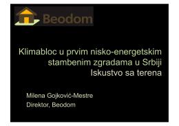 Iskustvo Beodoma sa Klimablocom (prezentacija)
